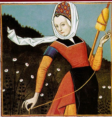 1-unknown-artist-ms-fr-599-f-40-french-1400s-woman-spinning-flax-using-a-drop-spindle-and-distaff